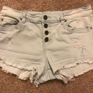 Billabong Cutoff Button-Up Shorts